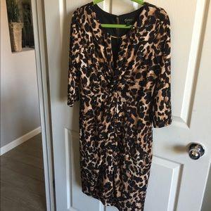 Thalia Leopard Print Dress size Large